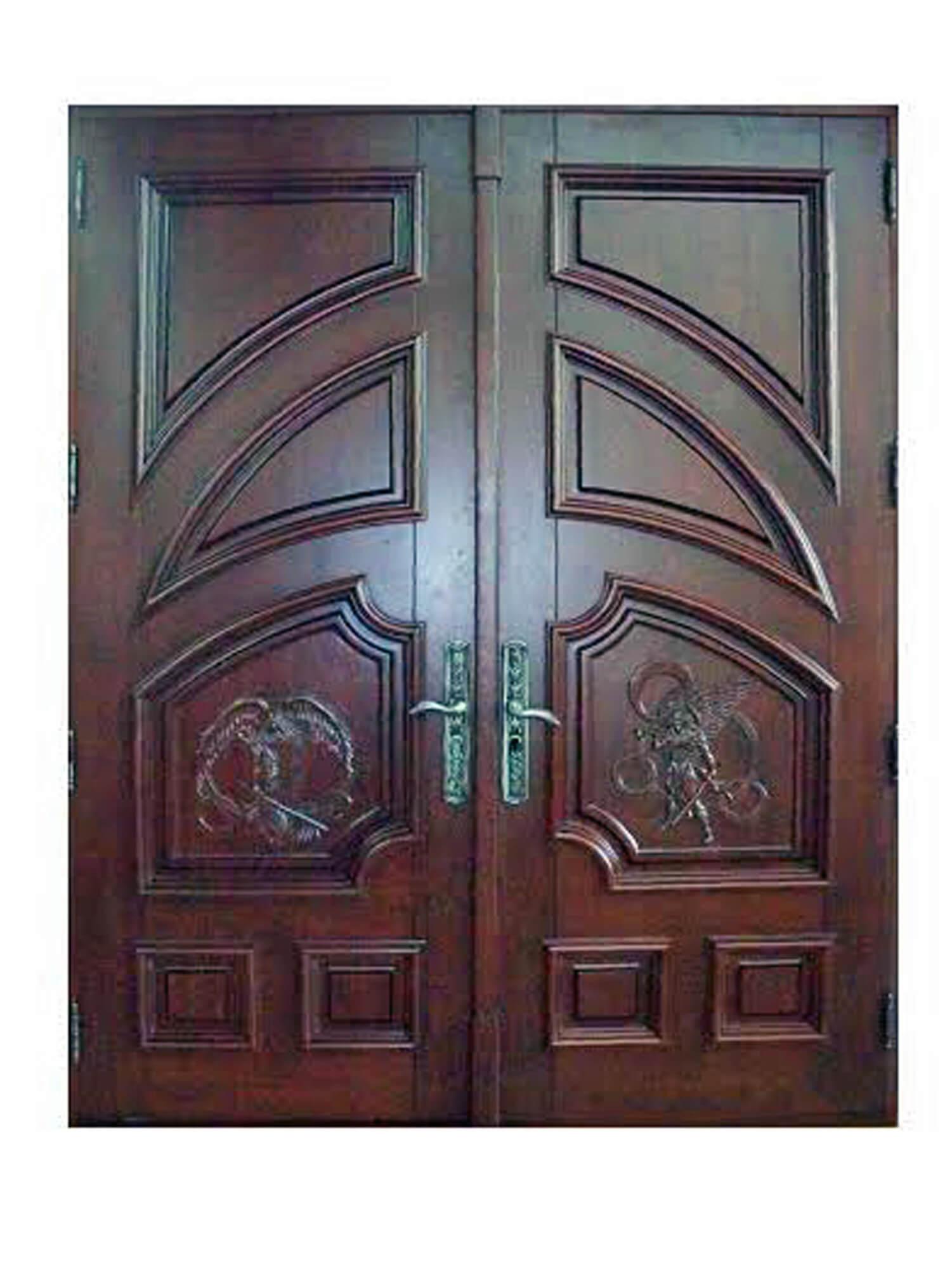 ANGELES MAHOGANY CARVED DOOR.