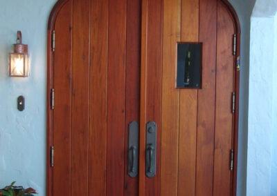 KEY LARGO MAHOGANY DOOR ENTRANCE VIEW.