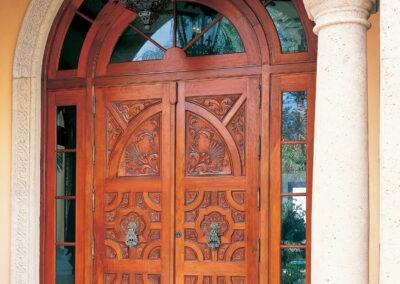 LANTANA MAHOGANY CARVED FRONT DOOR.
