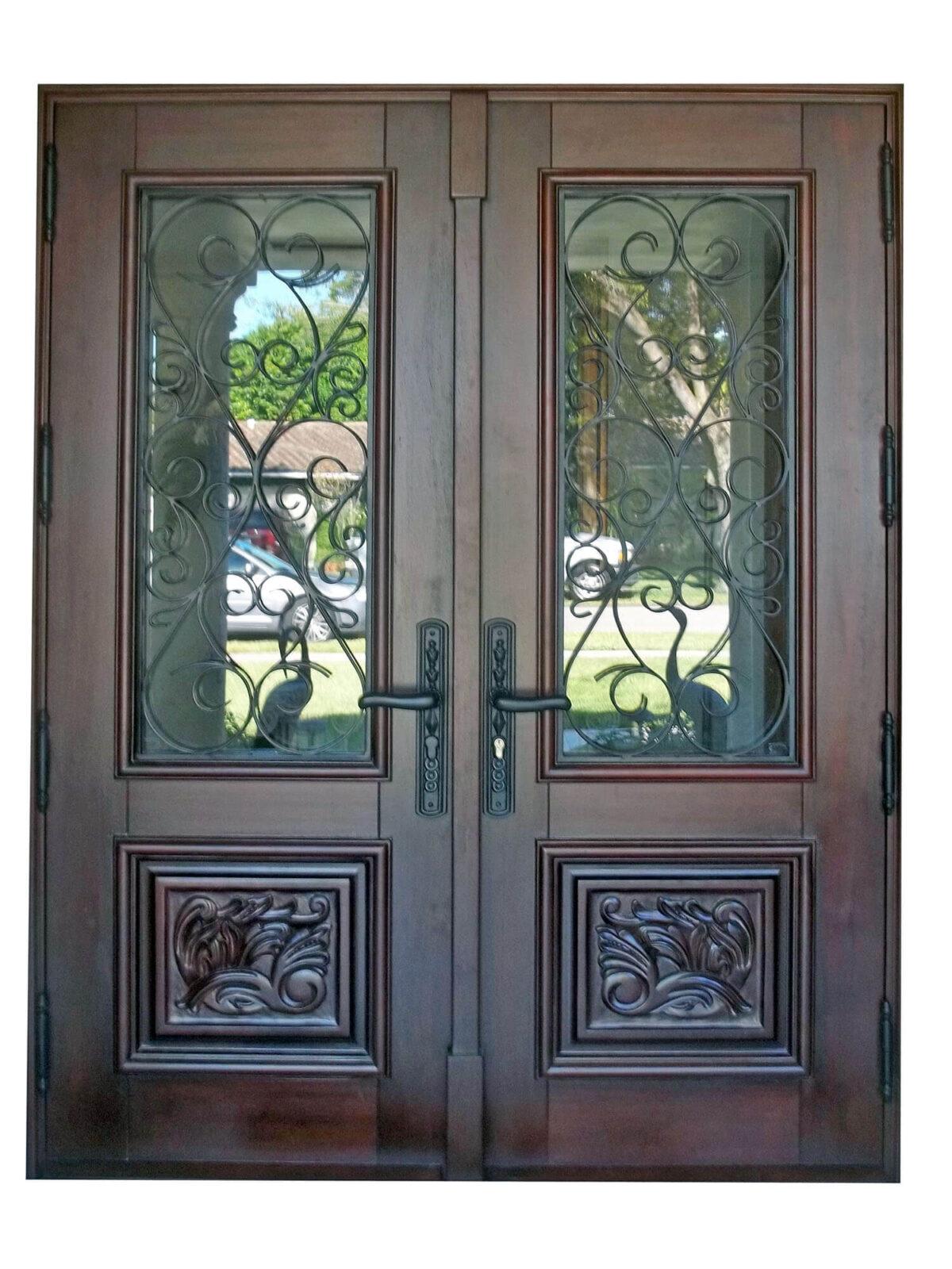 MIAMI LAKES MAHOGANY EXTERIOR DOOR.