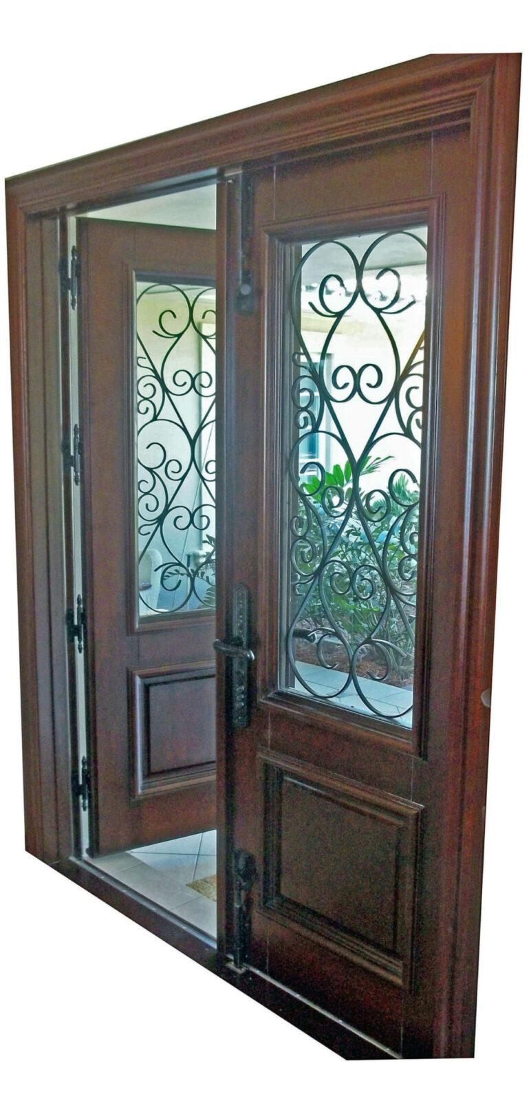 MIAMI LAKES MAHOGANY EXTERIOR DOOR