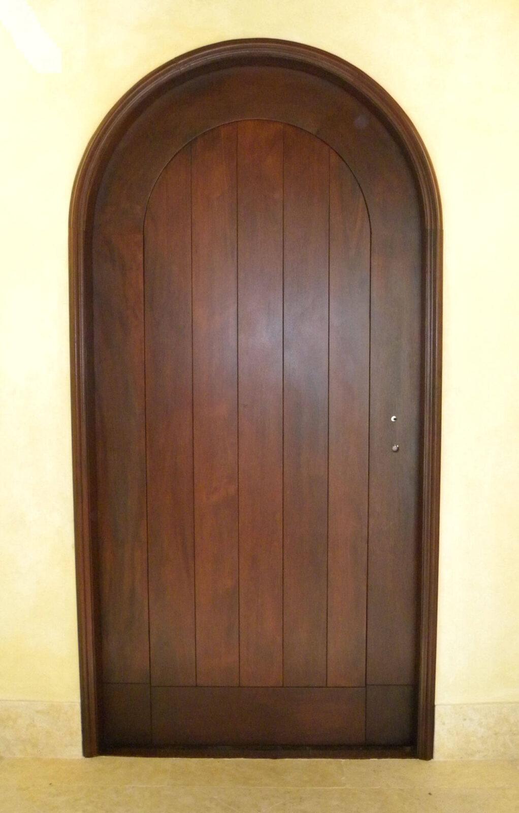 MIAMI SPRINGS MAHOGANY PLANK DOOR. INTERIOR