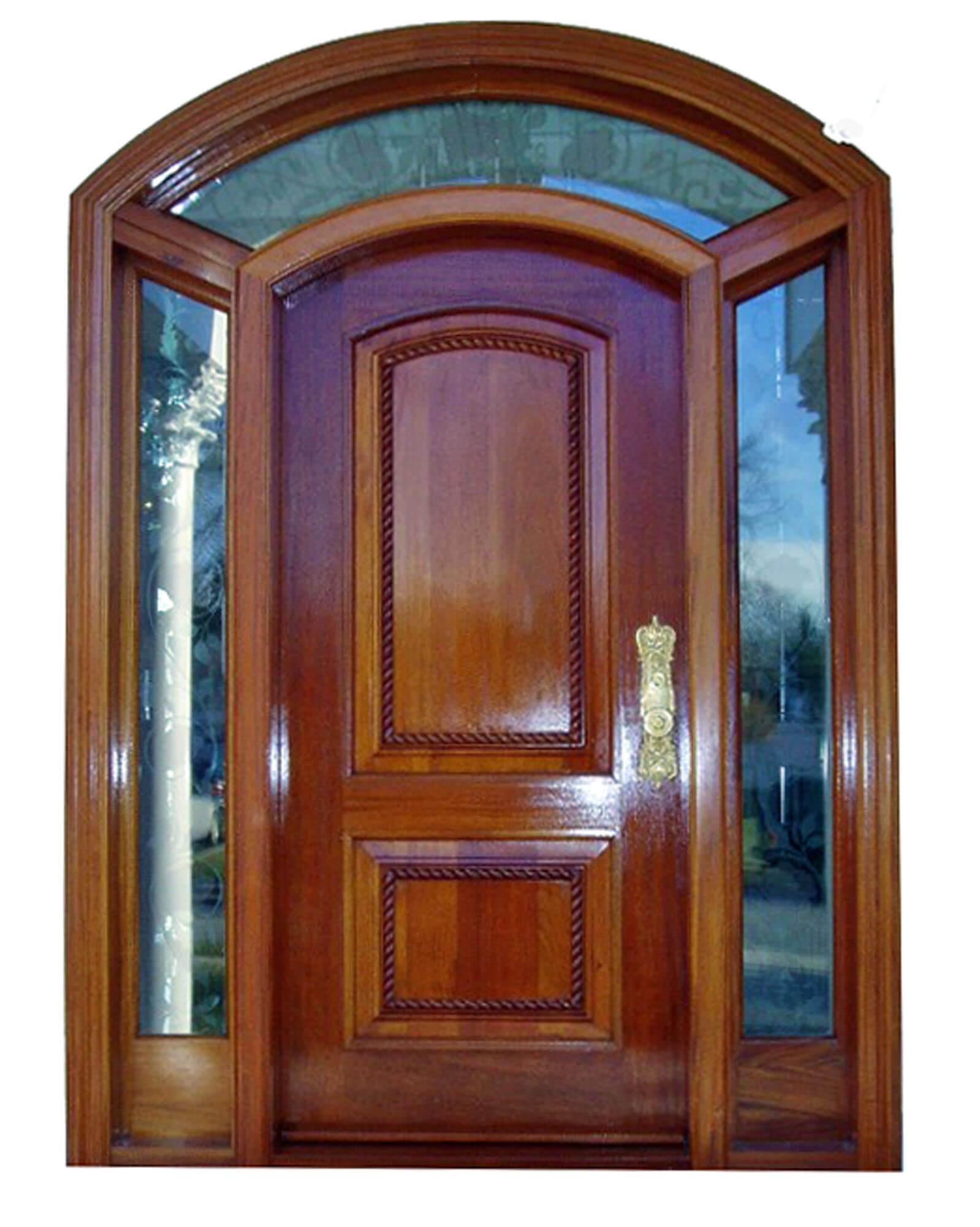 MYRTLE BEACH MAHOGANY FRONT DOOR.
