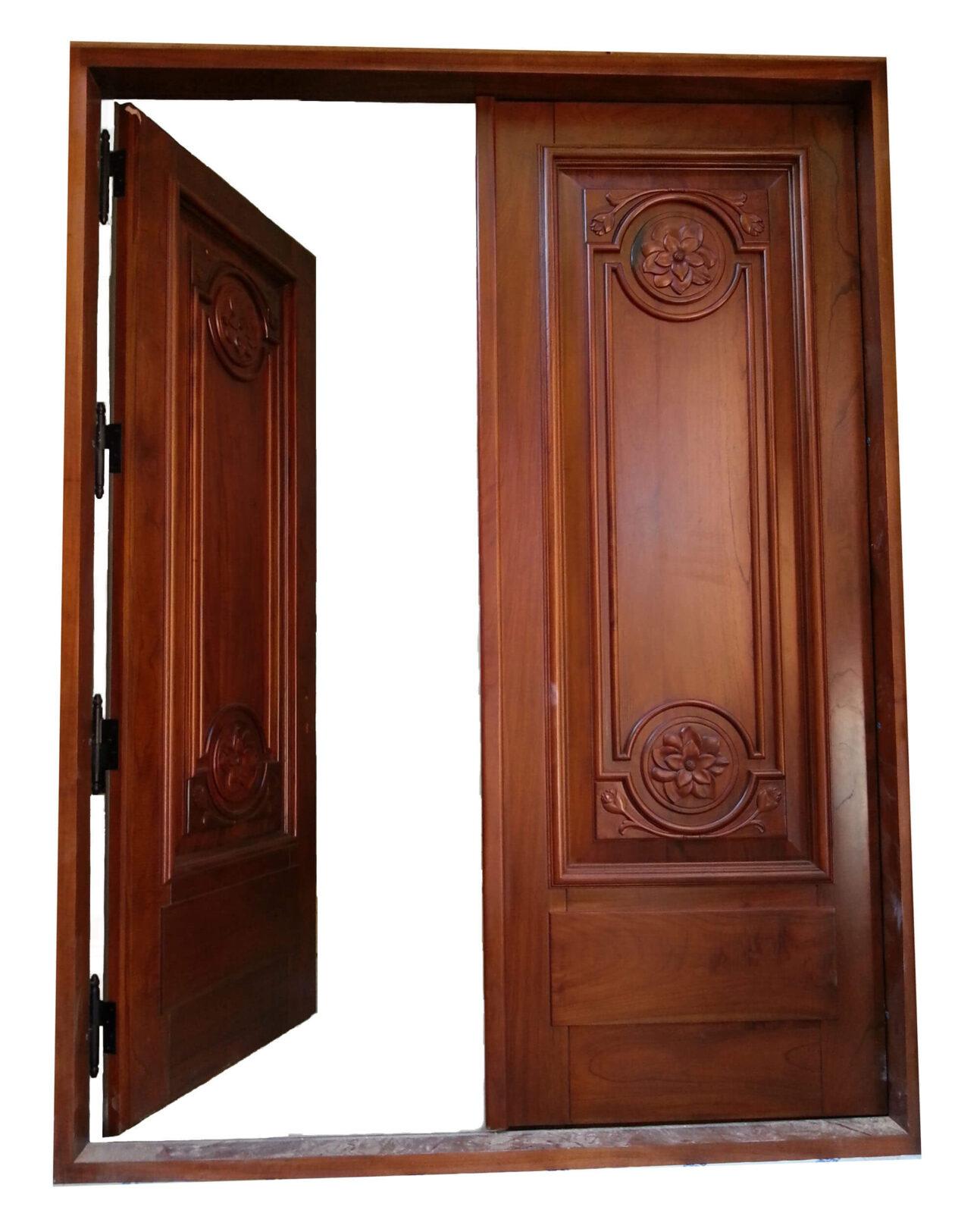 NEW JERSEY. MAHOGANY ENTRANCE DOORS.