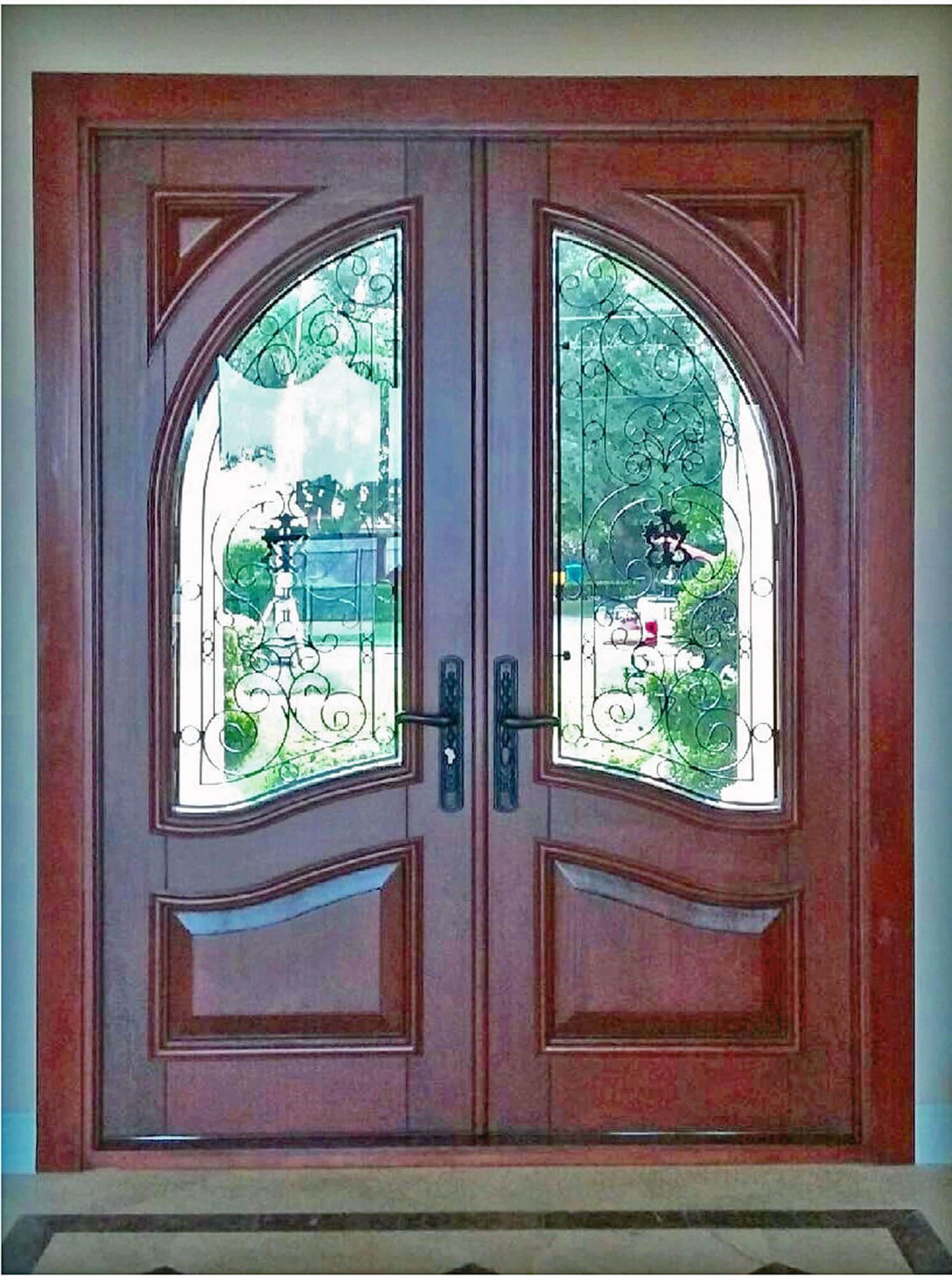 Newport Mahogany Front Door Interior
