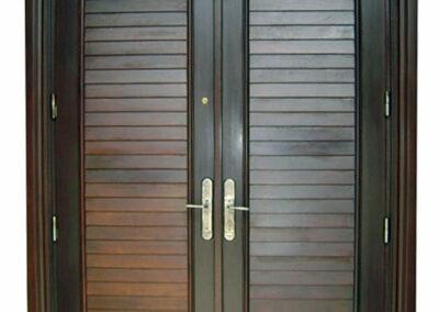 BAHAMA MAHOGANY LOUVRE DOOR