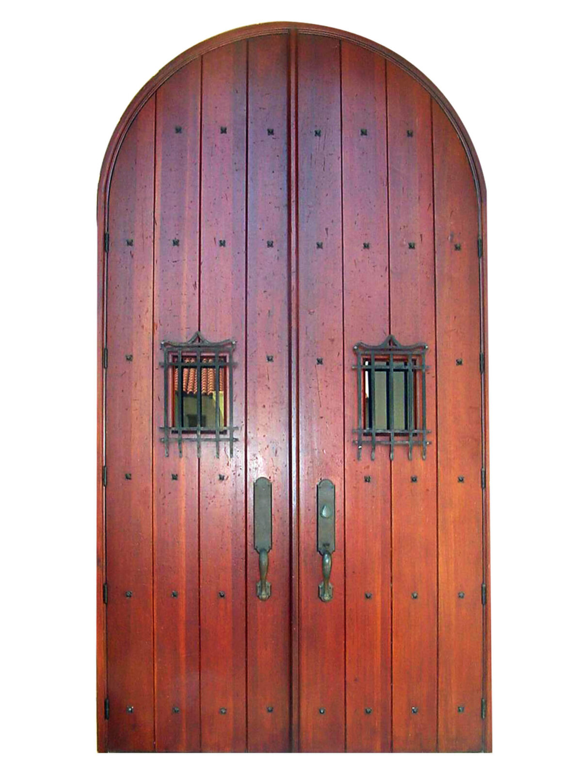 Palm Springs Mahogany Entry Doors