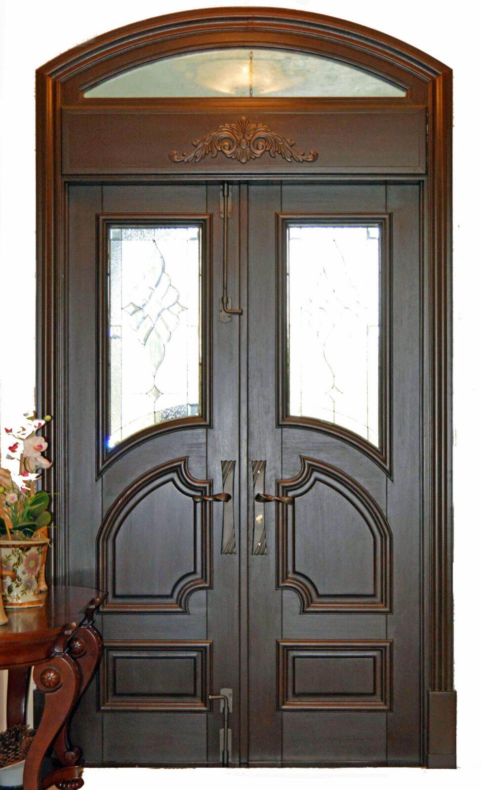 PALM BEACH MAHOGANY ENTRY DOOR.