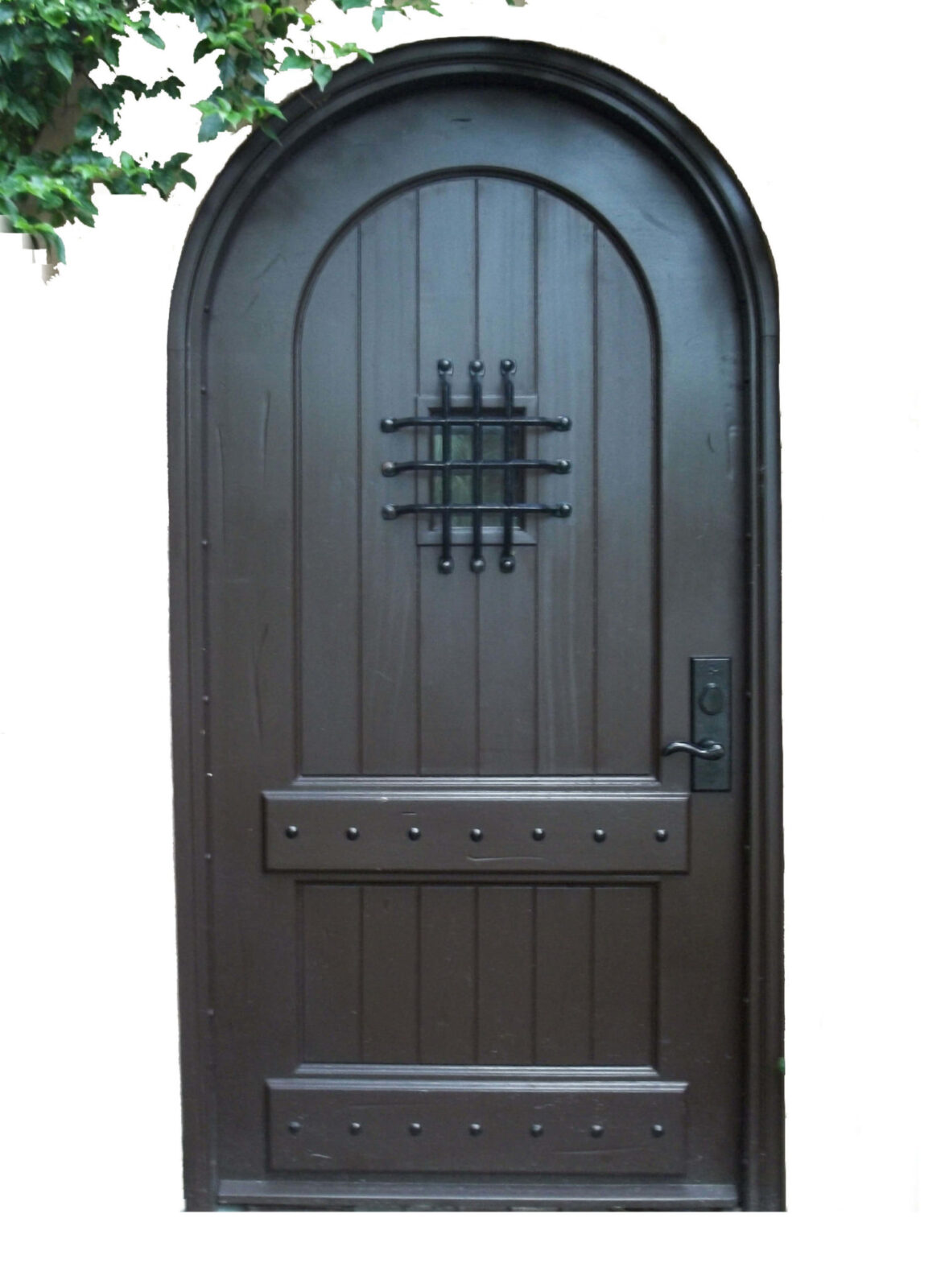 PALM ISLAND SINGLE LEAF MAHOGANY GATE DOORS