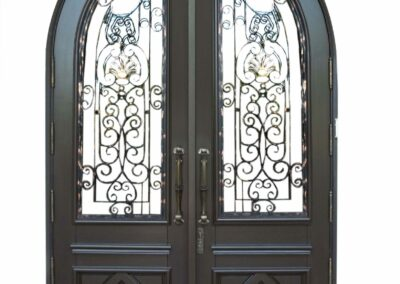 BAL HARBOR MAHOGANY GRILLED DOORS