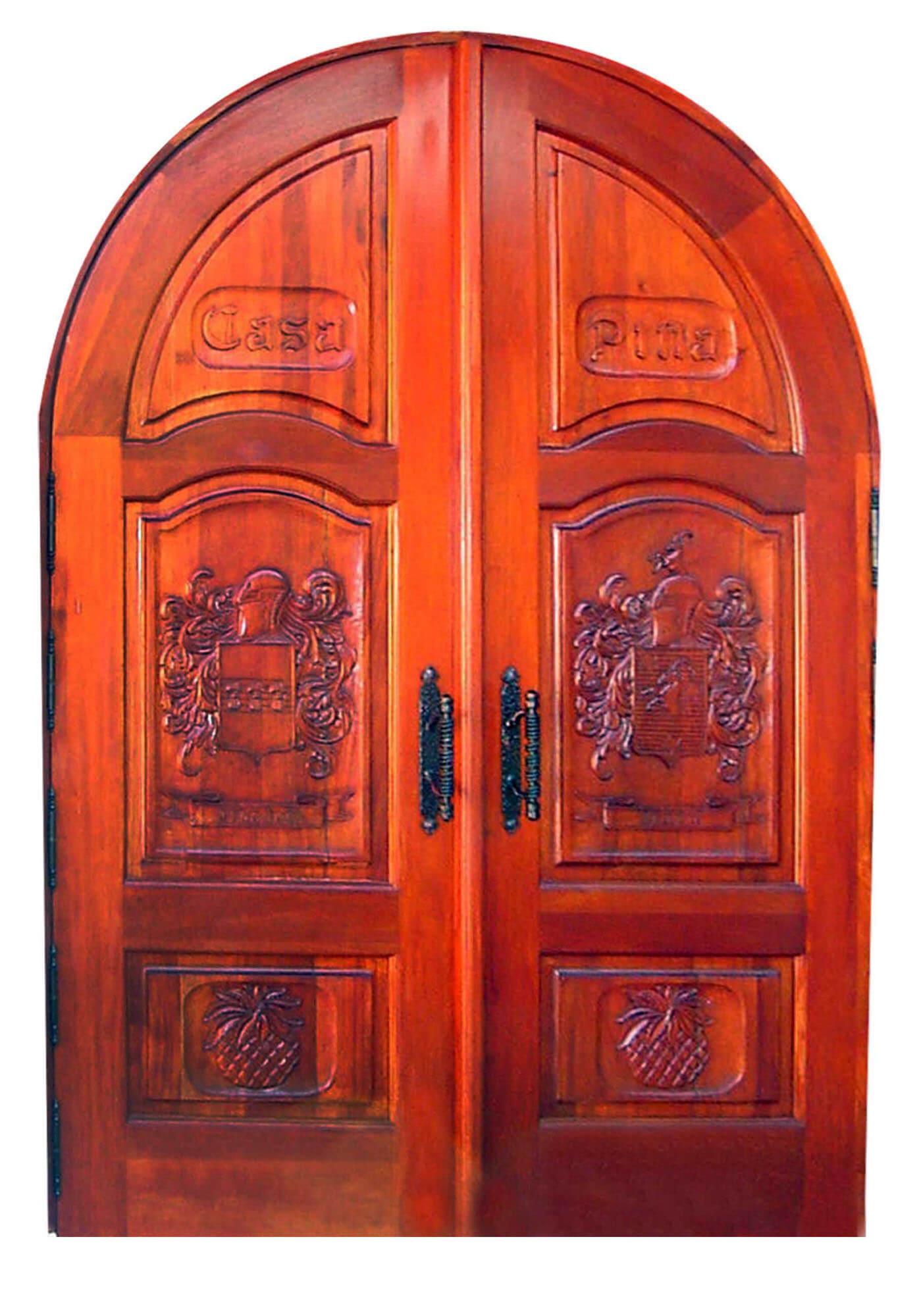SANTA FE MAHOGANY CARVED ENTRY DOORS.