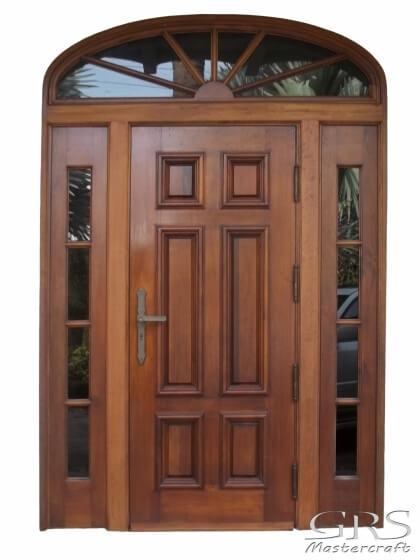 SOUTH MIAMI BEACH MAHOGANY ENTRY DOOR.