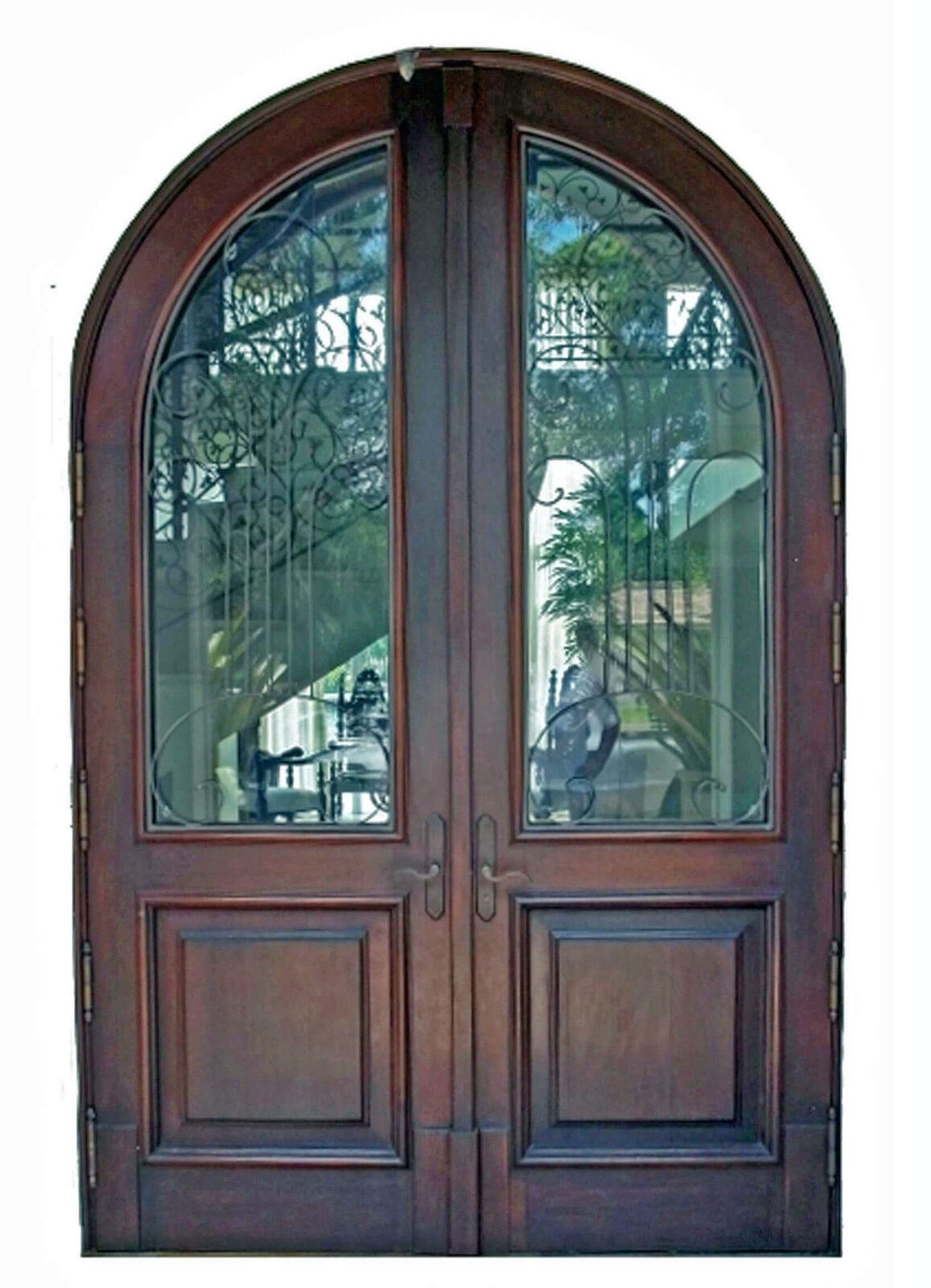 SOUTHWEST RANCHES. MAHOGANY ENTRANCE DOORS.