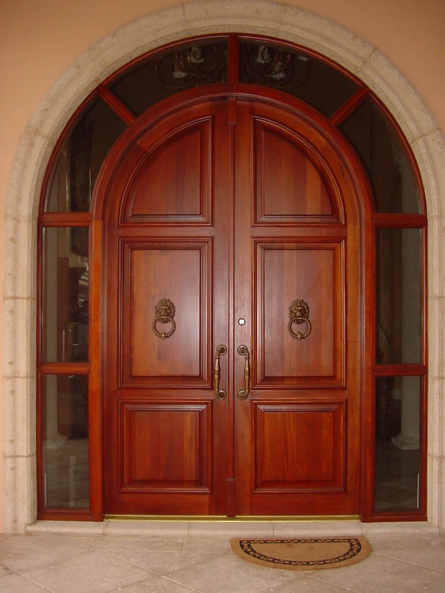 St Petersburg. Mahogany Entrance Door System