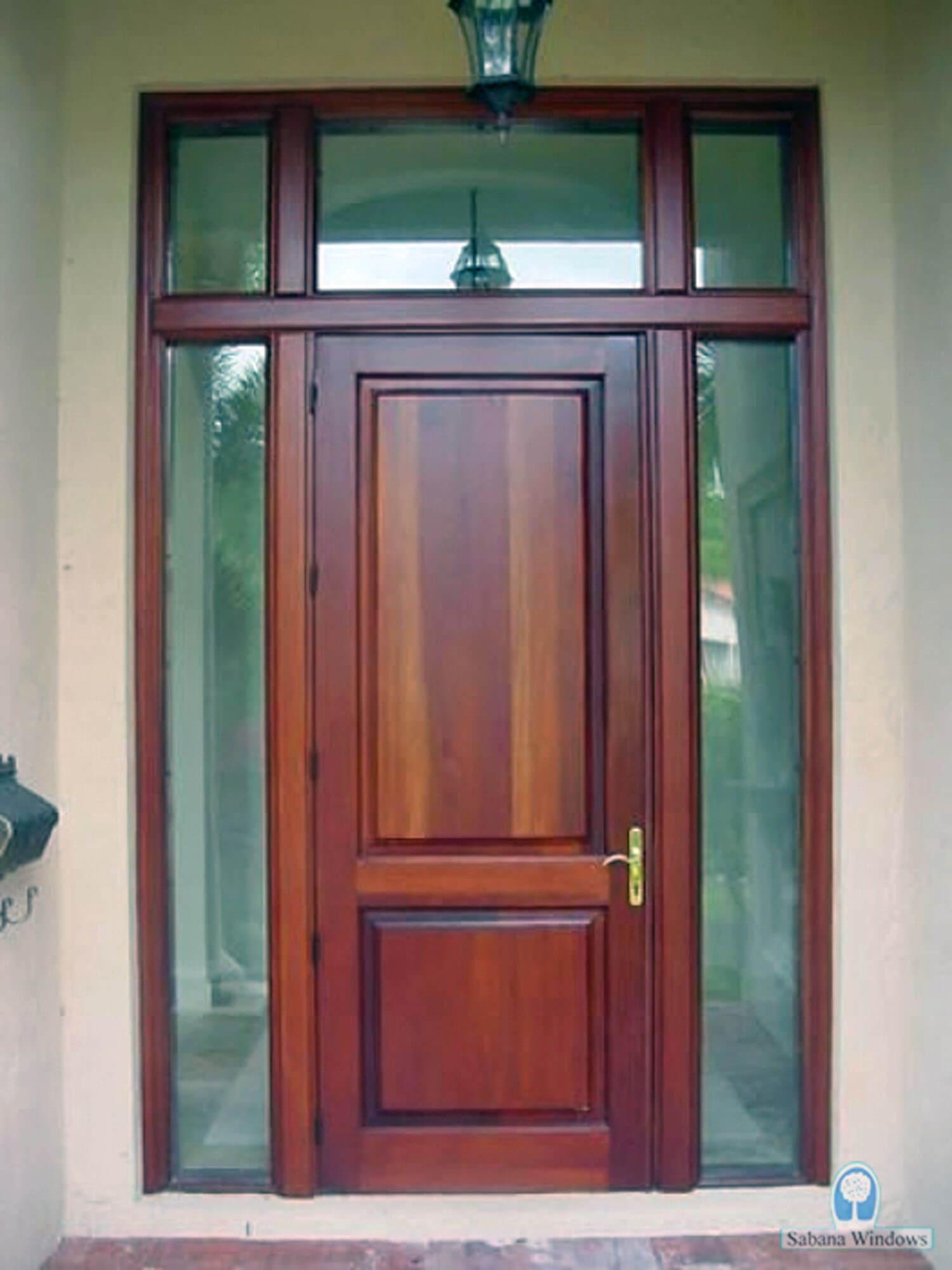 SUGARLOAF KEY IMPACT MAHOGANY DOORS.