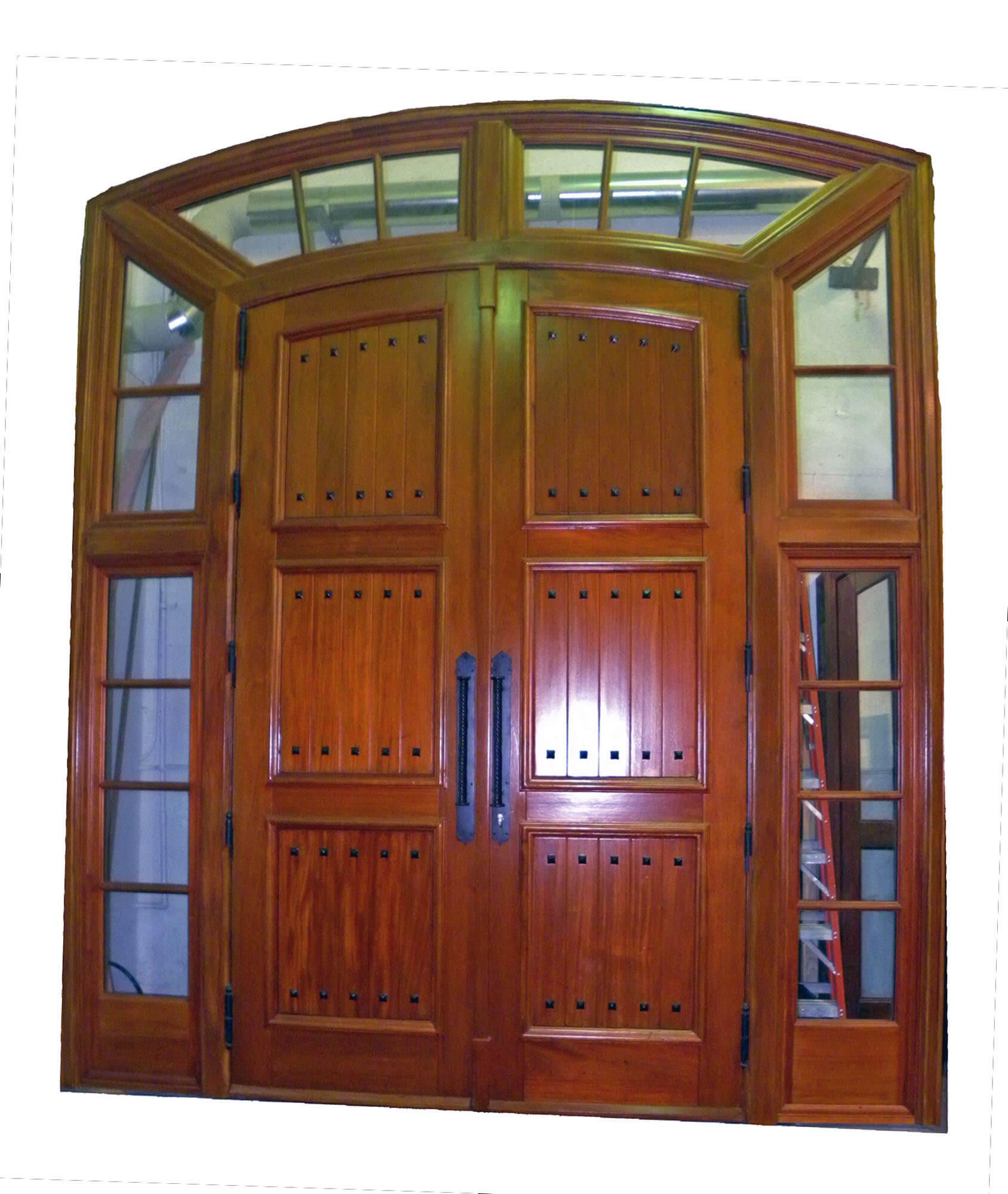 Sunrise Mahogany Front Door System
