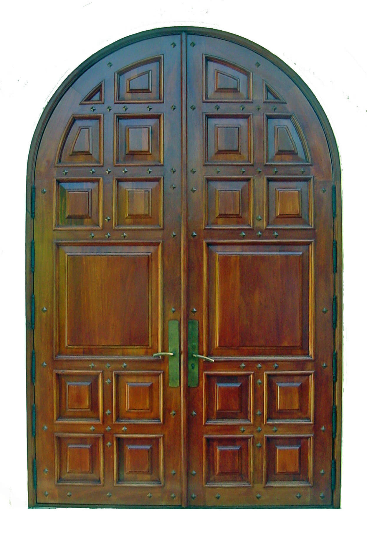 SUNRISE MAHOGANY FRONT DOOR.