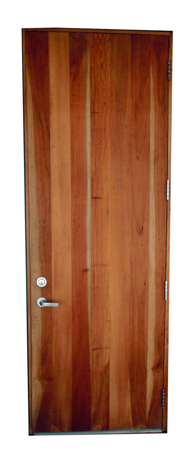 BISCAYNE POINT. MAHOGANY PLANK DOOR.