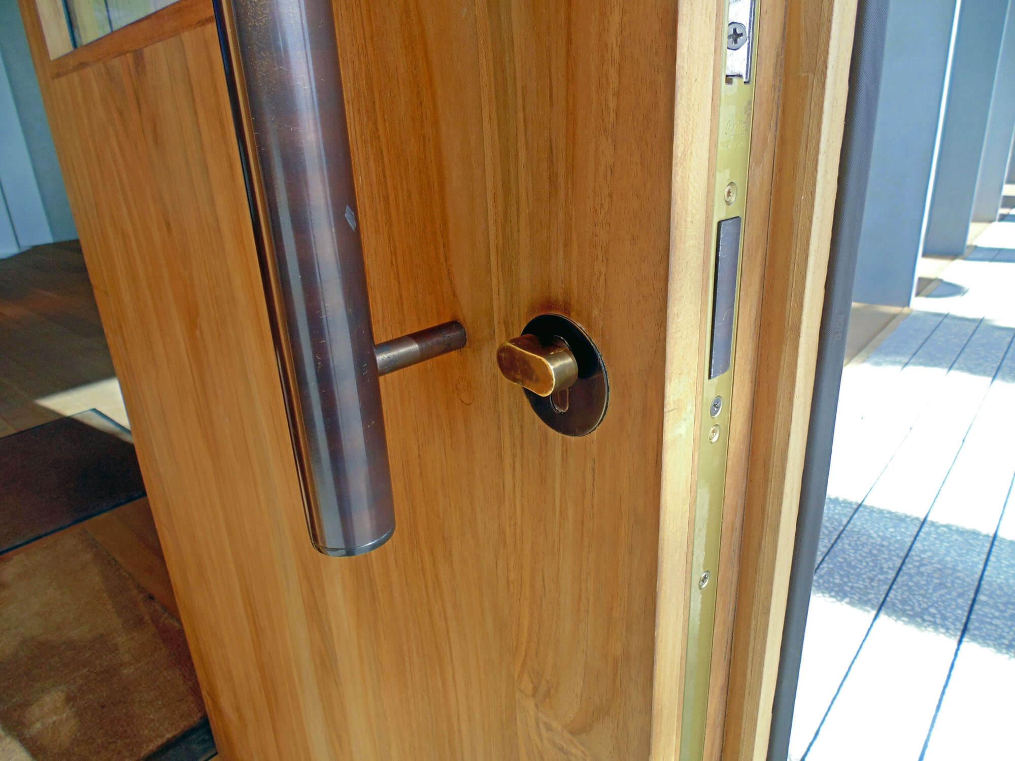 TEAK DOOR DETAIL.