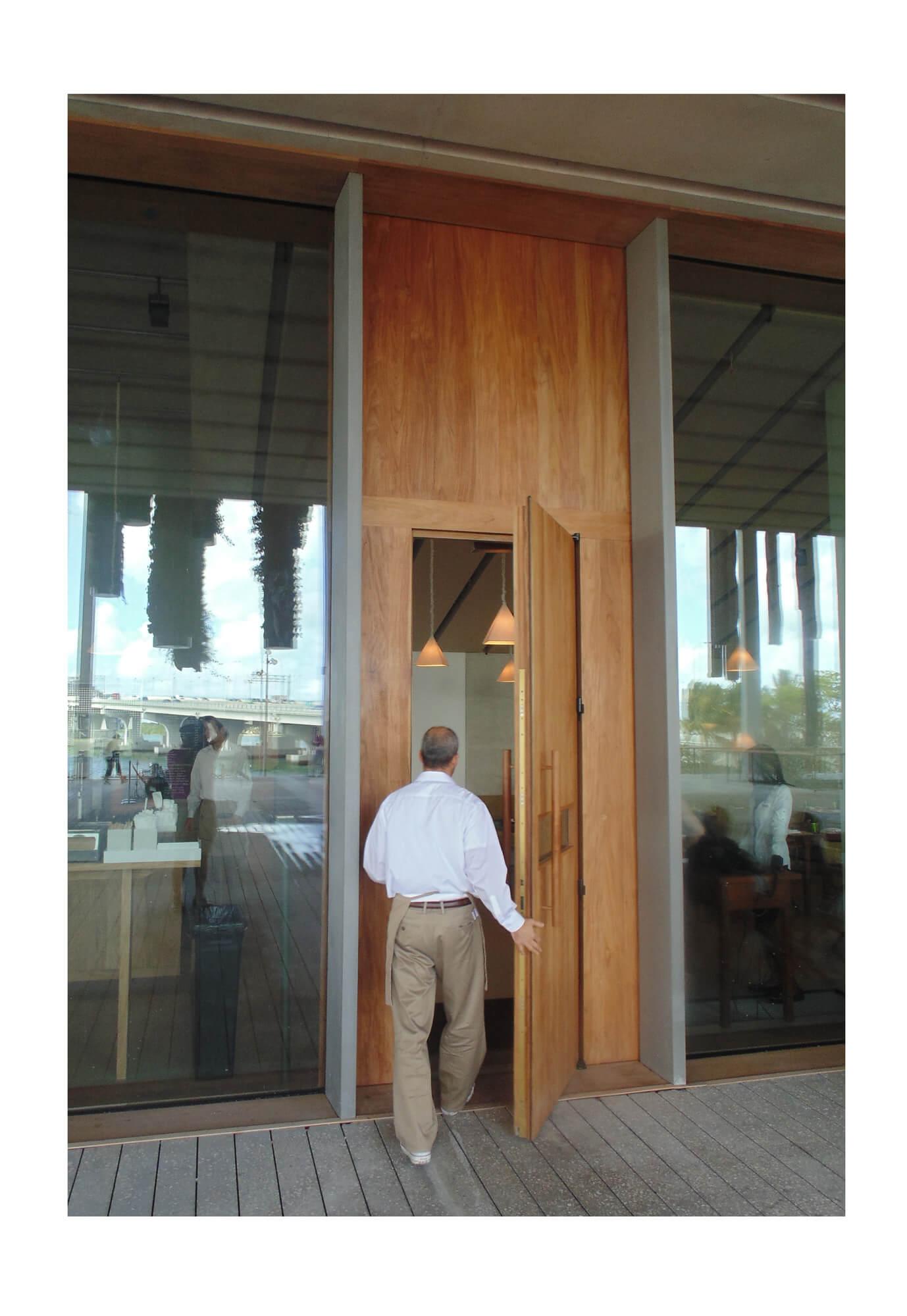 TEAK ENTRY DOOR.