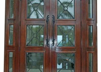 BOCA CHICA KEY. MAHOGANY EXTERIOR DOOR.