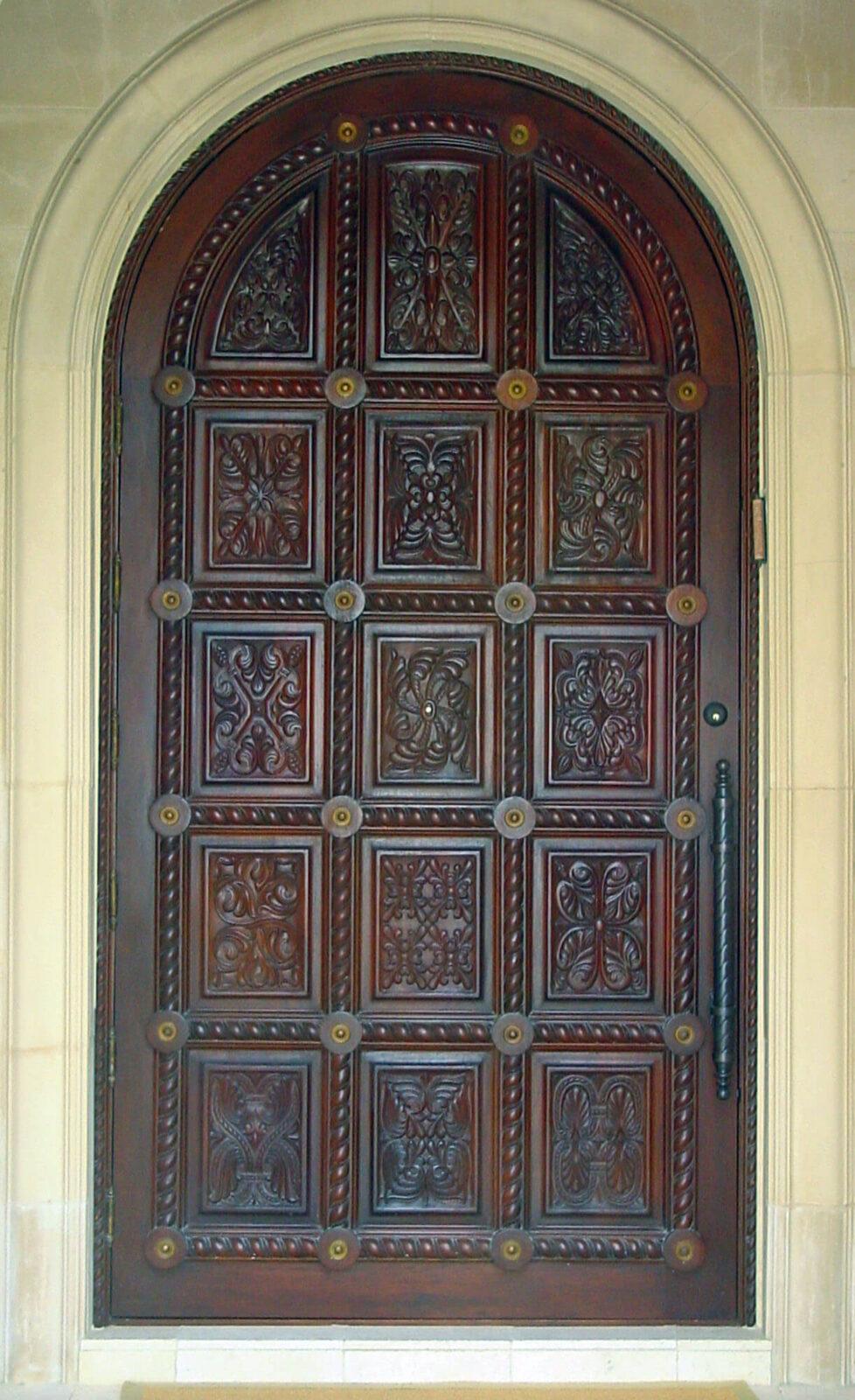 BOCA RATON MAHOGANY CARVED DOOR.