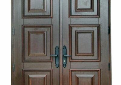 BONITA SPRINGS. MAHOGANY FRONT DOOR.