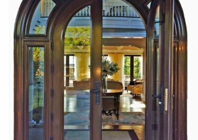 BRIDGEHAMPTON MAHOGANY ENTRANCE DOOR EXTERIOR VIEW.