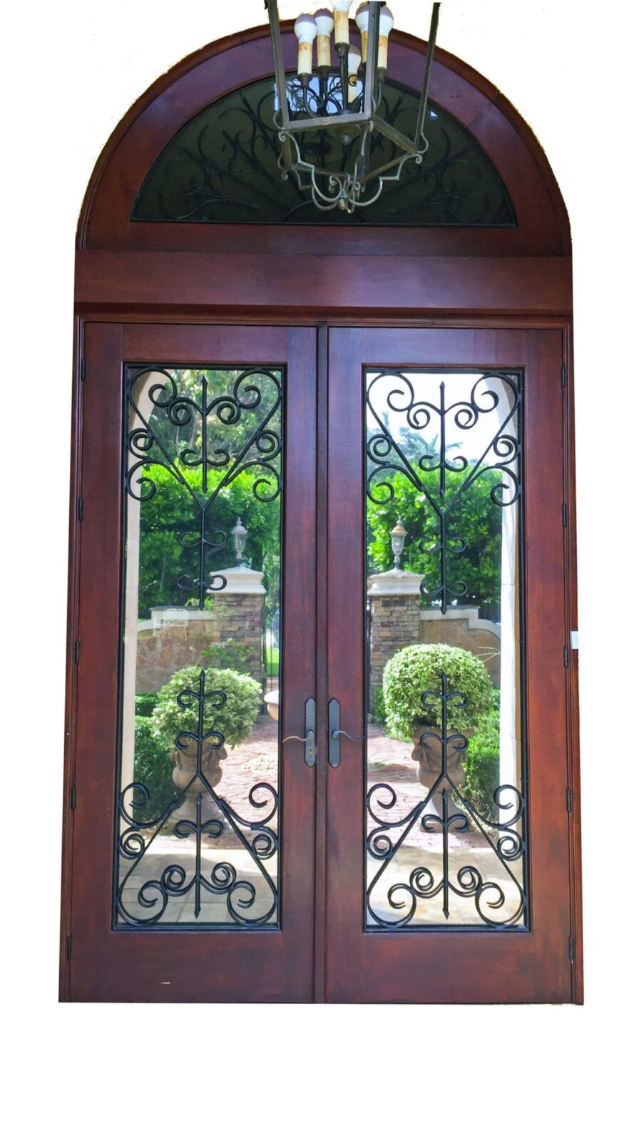 Bristol Mahogany Grilled Door