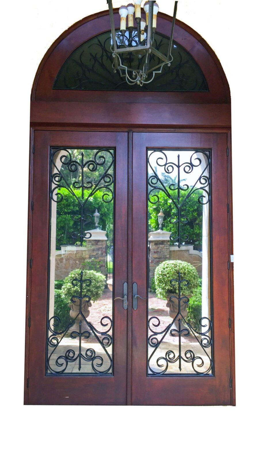 Bristol Mahogany Grilled Door