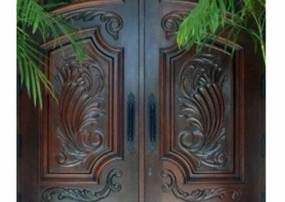 CALIFORNIA MAHOGANY CARVED EXTERIOR DOOR.