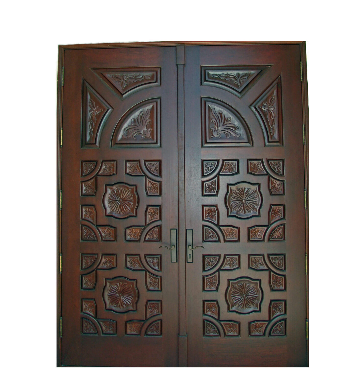 CAPE CORAL. MAHOGANY CARVED DOOR.