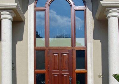 CHARLESTON MAHOGANY EXTERIOR DOOR.