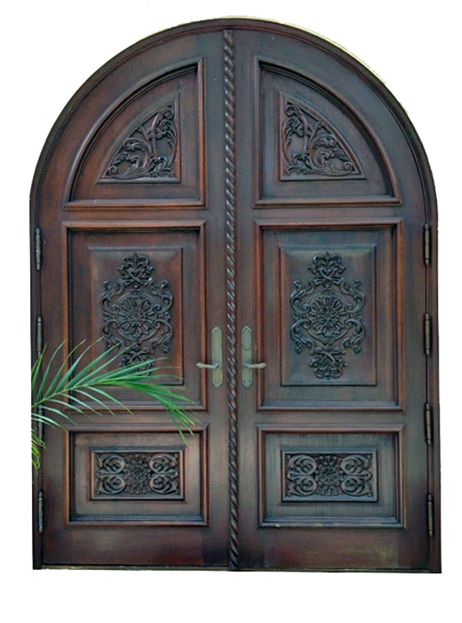 CHORRILLOS MAHOGANY CARVED FRONT DOOR.