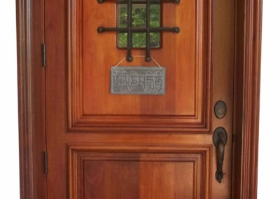 CLEARWATER MAHOGANY ENTRY DOORS.