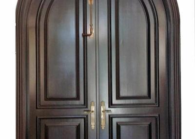 ALLISON ISLAND MAHOGANY ENTRY DOOR INTERIOR VIEW.