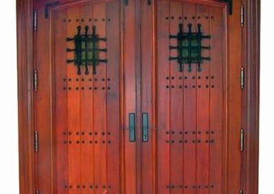 COCONUT GROVE. MAHOGANY PLANK DOORS.