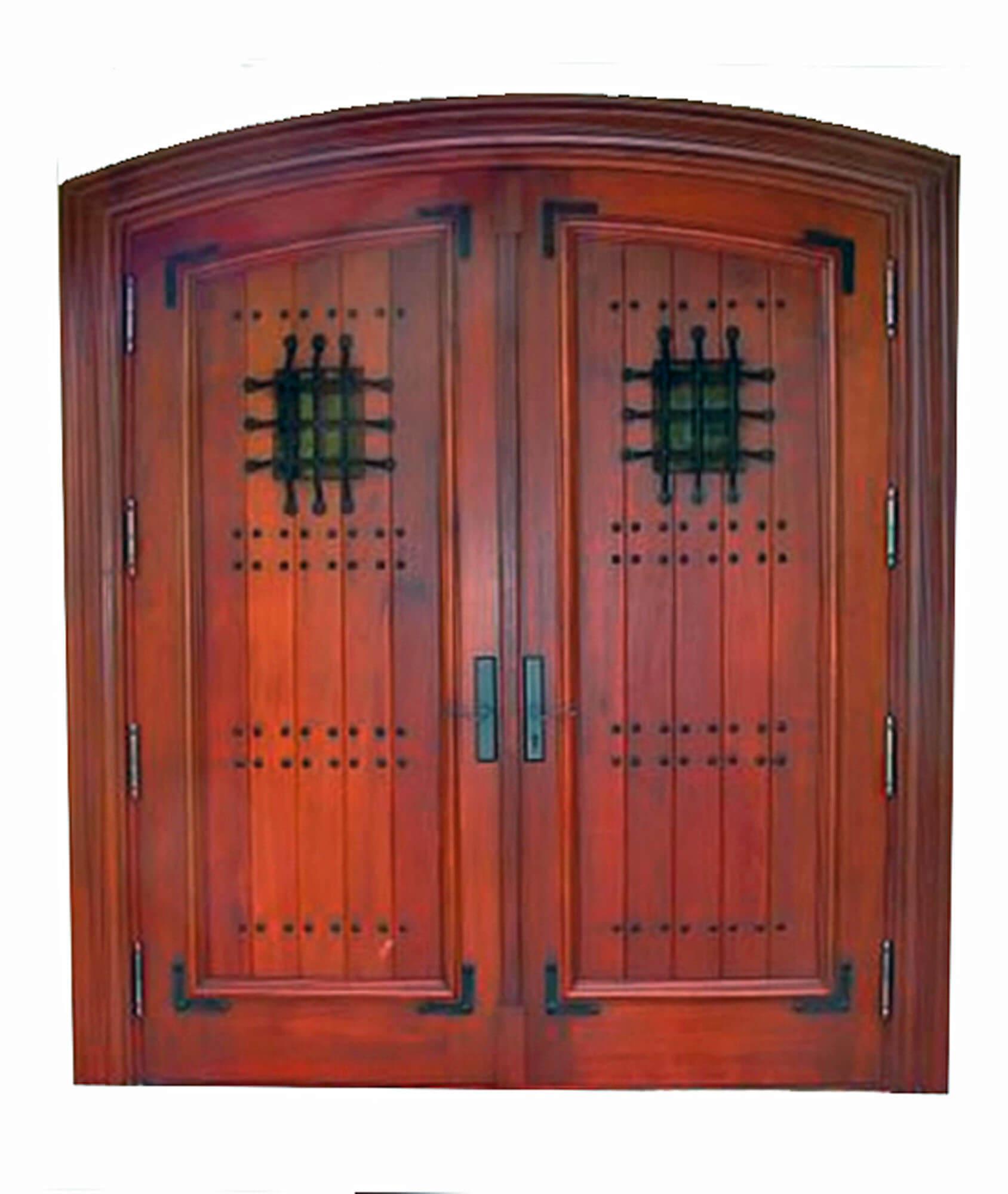 Coconut Grove Mahogany Plank Doors