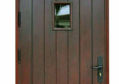 COLLINS AVE MAHOGANY EXTERIOR DOOR.