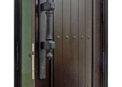 COLORADO MAHOGANY ENTRY DOOR OPENED