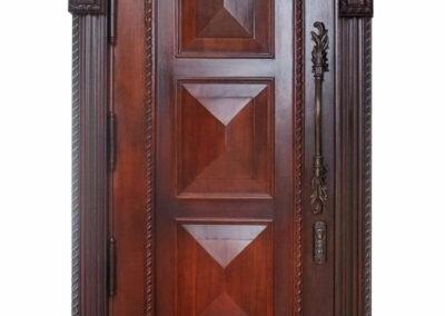 CORAL MAHOGANY ENTRANCE DOOR.