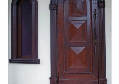 CORAL MAHOGANY ENTRY DOORS