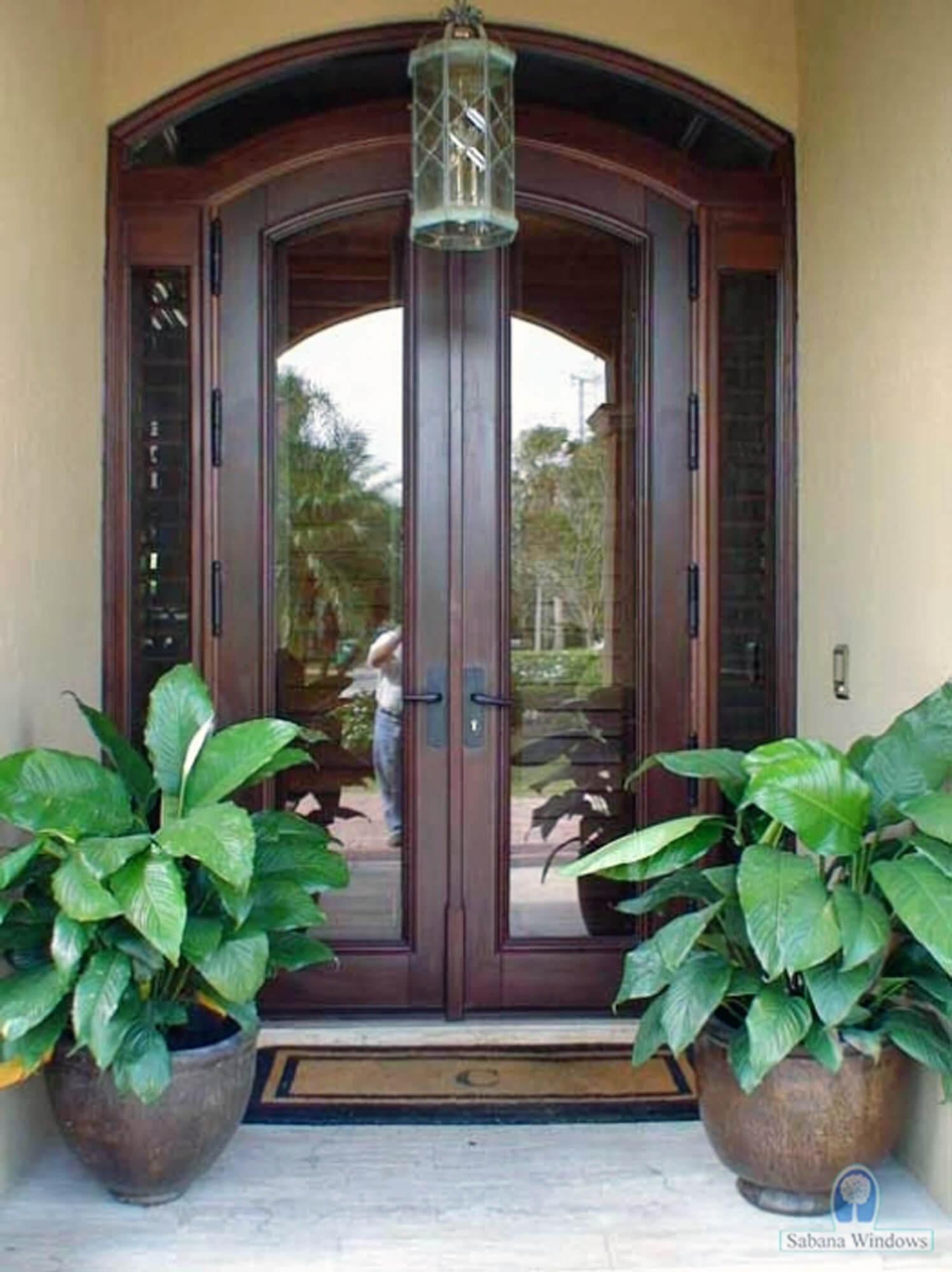 CORAL SPRINGS MAHOGANY GLASS DOORS.