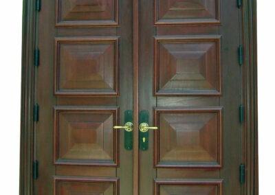 CUTLER BAY MAHOGANY ENTRANCE DOOR.