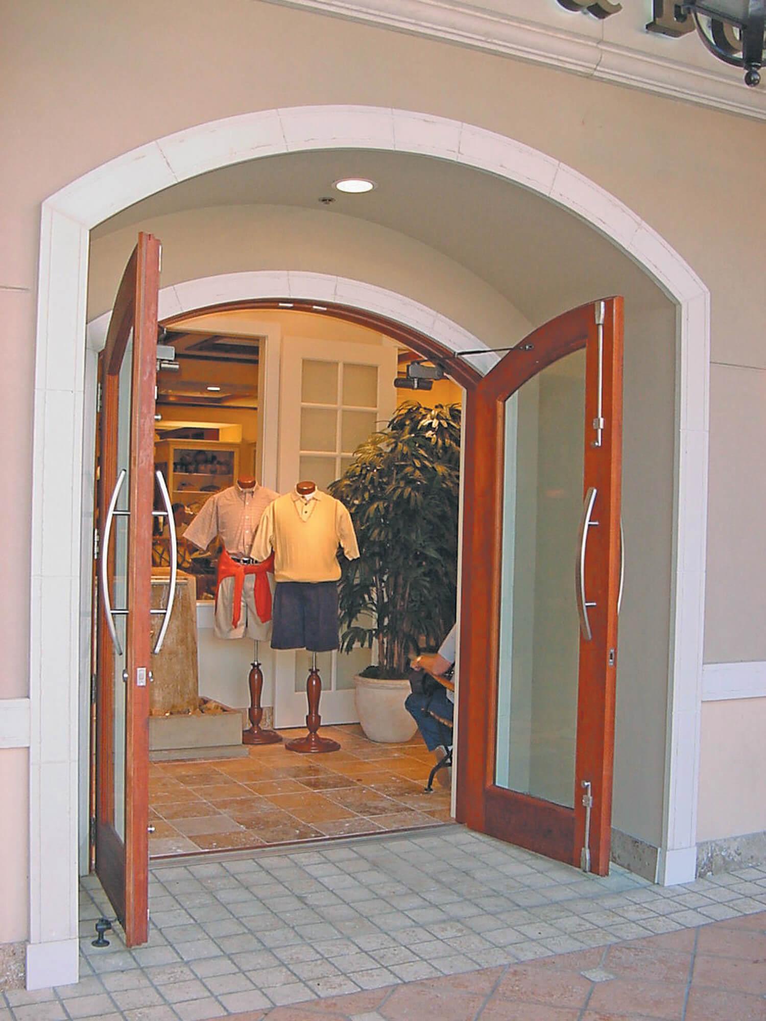Cutter and Buck Storefront Doors