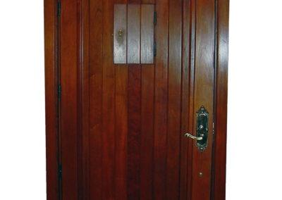 DEERING BAY MAHOGANY IMPACT DOOR INTERIOR.