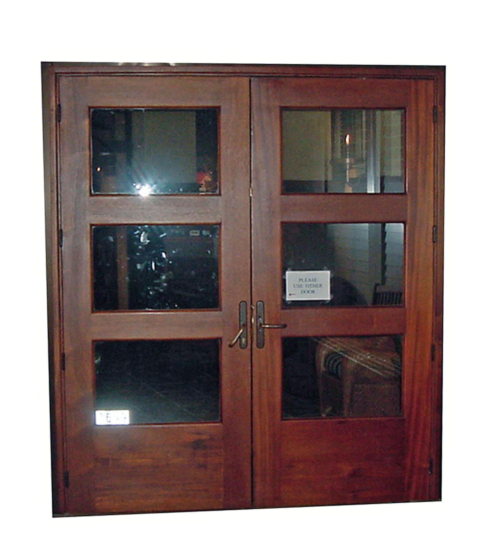 DELRAY MAHOGANY GLASS DOOR.