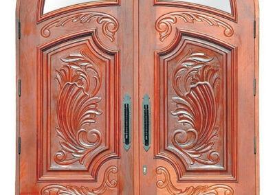 DESTIN MAHOGANY EXTERIOR CARVED DOOR.