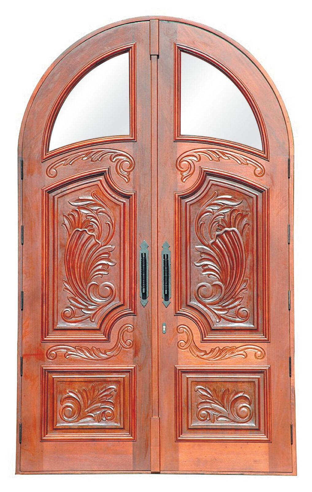 Destin Mahogany Exterior Carved Door