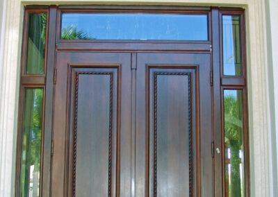 YORK MAHOGANY ENTRANCE DOORS.